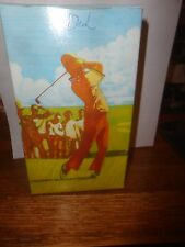 AVON PERFECT DRIVE GOLFING FIGURE/DECANTER WITH SPICY AFTER SHAVE, NEVER OPENED