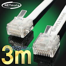 3M 10FT CAT6 Super Ultra Slim Flat Ethernet Patch Network Lan Cable RJ45 1GB NEW