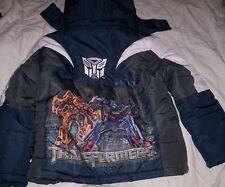 TRANSFORMERS Boys 6/7 Warm Winter COAT NeW Hooded Jacket BumbleBee Optimus Prime