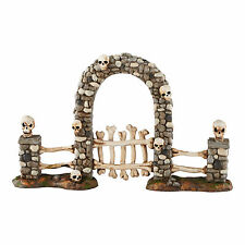 "Department 56 Halloween ""BONEYARD GATE"" New 2016 FREE SHIPPING"