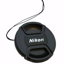 52mm Snap On Front Lens Cap Cover Center Pinch with String for Nikon Camera DSLR