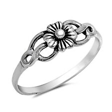 .925 Sterling Silver Ring size 6 Celtic Rose Midi Knuckle Flower New