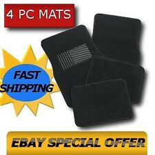 BLACK CAR FLOOR MATS Carpet Pads Fits all Cars Trucks Suvs OEM All Colors CS