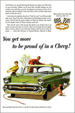13x19 1957 Chevrolet Bel Air Sport Coupe Poster Ad Art Brochure '57 Chevy Print