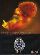 PUBLICITE ADVERTISING 2001 SECTOR    collection montre  600