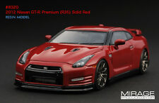 RARE 1 OF 60 1:43 HPI RESIN #8320 2012 Nissan GT-R Premium R35 SOLID RED SCMC
