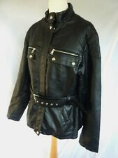 AMAZING STEVE MADDEN BLACK FAUX LEATHER SILVER STUD BIKER JACKET COAT SIZE 16