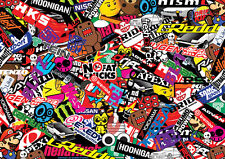 Japonés Stickerbomb Hoja @ 1m X 300 Mm (jdm/drift/nissan / toyota/subaru) Color
