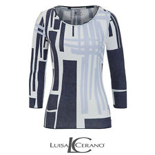 Luisa Cerano Blue Pattern Top Size 42 (UK 16) Box4574 L