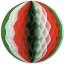 "12"" Tissue Paper Christmas Tri-color Honeycomb Party Ball - 1 Piece"