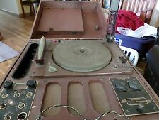 Antique Meissner PHONO RECORDER Record Player PA System 9-1065