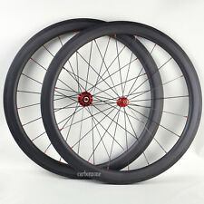 Straight-Pull Powerway R36 Wheel Set Sapim CX Ray 56mm Carbon Clincher Matt Rims