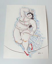 Fernando Botero 'Equilibrista' 2007 ink/watercolor sketch (3rd stage) - signed
