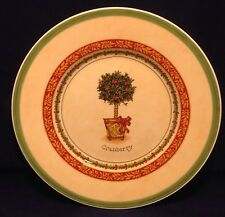 Villeroy & Boch FESTIVE MEMORIES TOPIARY Cranberry Salad Plate Germany Holly