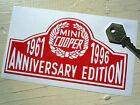 MINI COOPER ANNIVERSARY EDITION 1961-1996 CAR STICKER