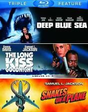 Deep Blue Sea/The Long Kiss Goodnight/Snakes on a Plane New Blu-ray