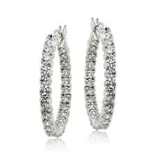 Cubic Zirconia 25mm Hoop Inside Out Earrings