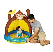 Play Day Baby Pool Blow Up Monkey Banana with Sun Shade