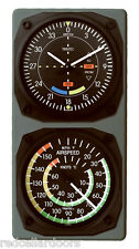 New TRINTEC VOR GLIDESCOPE Wall Clock with AIRSPEED Thermometer Console Set