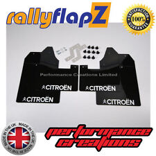 rallyflapZ CITROEN C2 Fladones guardabarros Guardafangos Negro logotipo Citroen