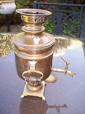 ANTIQUE RUSSIAN 1875-1890 SAMOVAR BRASS TULA BORSCHANOV MEDALS Coal Teapot