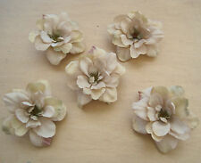 "5 Piece Lot 2.5"" Beige Apple Blossoms Flower Hair Clips,Wedding,Dance,Prom"