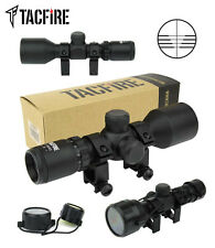 TacFire 3-9X42 Crossbow Scope With Multi-Line Ranging Reticle Rings & Lens Cover