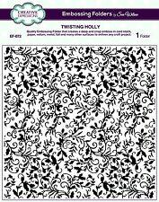 """Creative Expressions 8X8"""" Sue Wilson Holly torsión de carpeta de grabación en relieve EF-072"""