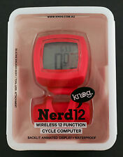 Knog Nerd 12 Wireless 12 Function Bike Computer / Speedometer Red NEW