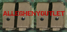 2 NEW US Military MOLLE 40MM DOUBLE PYROTECHNIC GRENADE POUCH M203 Mag Coyote