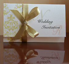 50 PERSONALISED WEDDING /  EVENING INVITATION new collection+ free rsvp cards