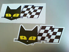Sev Marchal Cat & Bandera Retro Vintage Coche pegatinas calcomanías 2 Off 90mm