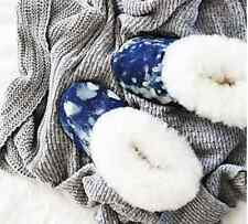 NEW Free People Ariana Bohling Winter Cabin Alpaca Lined Slippers M 7/8 $115