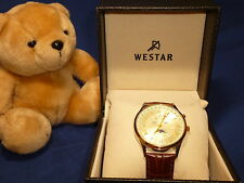 Westar Moon Phase Quartz Watch