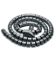 """4.92Ft 0.6"""" (1.5M) Spiral Cable Zip Wire Wrap Tube Computer Manage Cord Black"""
