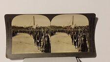 WWI, British Soldiers in Victory Parade in Paris, France,Keystone Stereoview