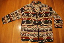 NEW IDENTITY Aztec Indian blanket Print Blazer Womens jacket coat M