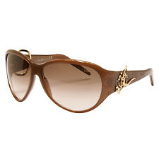 ROBERTO CAVALLI - BROWN URANO OVERSIZED SUNGLASSES WITH CASE