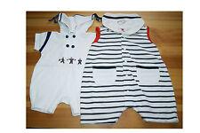 BabyWalz C&A Gr. 56 Babybekleidung Overall Strampler Spieler 2 Stück Jumper