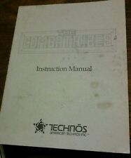 Technōs THE COMBATRIBES Arcade Video Game Manual - good used original