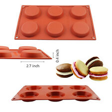 6 Cavity Mini Pie Custard Cake Baking Mold Silicone Pan Chocolate Cookie Muffin