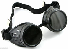 Steampunk black Goggles rock Moto/bike Punk Cyber Gothic Rave Vintage Cosplay