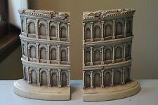 "Heavy 6.5"" Roman Coliseum Architecture Book Ends by TMS 2002-Used!"