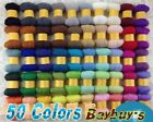50 Color Fine Merino Soft Wool Multipack Top Roving Fiber Felting Spinning 250g