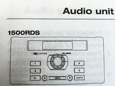 Ford 606 CDC Radio Cd Cassette operativo Manual de instrucciones Audio Libro