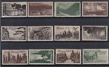 RUSSIA URSS CCCP 1938 PROPAGANDA TURISTICA  UNIFICATO 658 / 669  MH 12 Valori