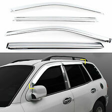 Chrome Shade/Rain Window Vent Visor for 01-06 Santa Fe