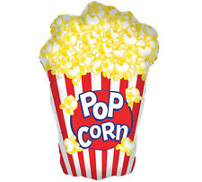 "XL 38"" Popcorn Mylar Foil Balloon Movie Night Circus Birthday Party"