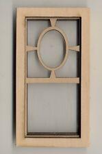 Window - Prairie Oval - 2181 wooden dollhouse miniature 1:12 scale 1pc USA made
