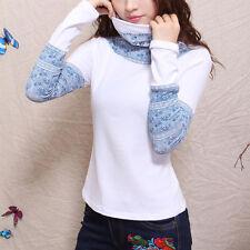 Création! T-shirt sous-pull col roulé imprimé chinois blanc T.40  2140